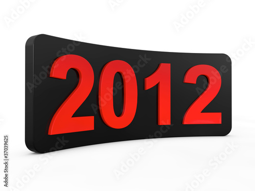 New year 2012 3d render illustration