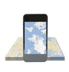 Cellulare con mappe