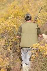 cazador en el monte
