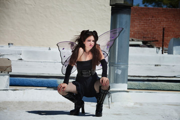 Faery on Roof