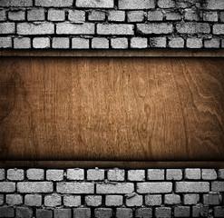 brick and wood background