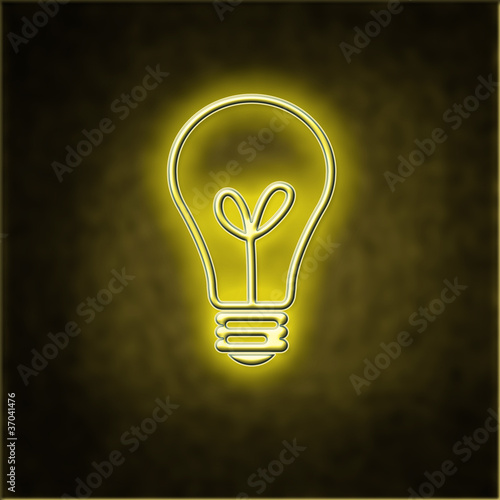 Glowing bulb indicating an idea