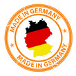 made in germany stempel button