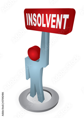 Human figure with insolvency table