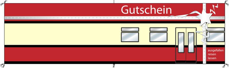 Gutschein - Bahn