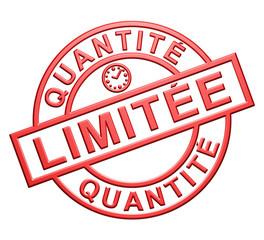 """""""Quantité Limitée"""" Cachet (rouge)"""