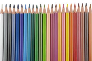 Lapiceros de colores o pinturas paralelos