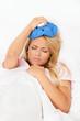 Eisbeutel bei Kopfschmerzen