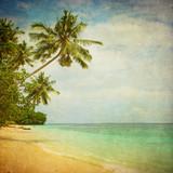 Fototapety grunge image of tropical beach