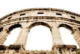 details of colosseum - great italian landmarks series poster