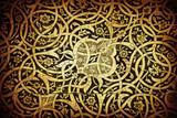 Tiled background, oriental ornaments from Uzbekistan.Tiled backg