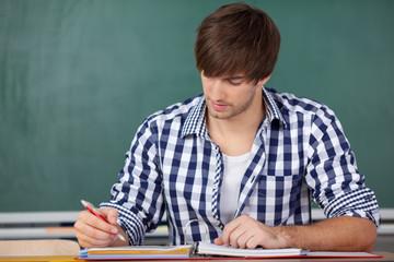 student in der vorlesung