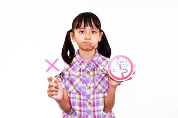 喫煙禁止を訴える少女