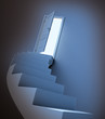 Abstract stairway leading to light