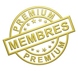 """""""Membres Premium"""" Cachet"""