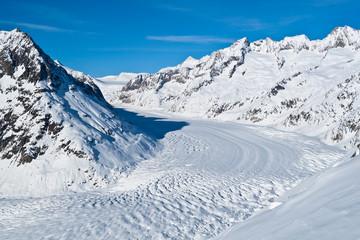 verschneiter Gletscher