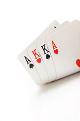 winning omaha starting hand, aces and kings