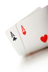 winning texas holdem starting hand, aces