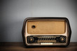antique radio on vintage background - 37051887