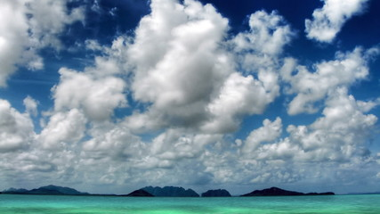 Islands and sky time lapse
