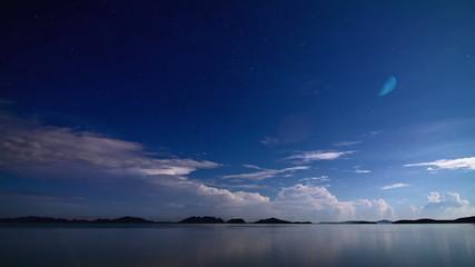 Night sea storm time lapse