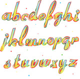 Decorative alphabet, small letters