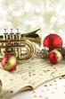 Leinwanddruck Bild - Christmas music decoration