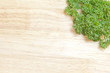 fresh parsley on a cutting board
