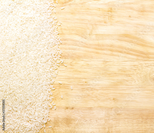 white rice on cutting board