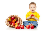 Little Child with healthy food