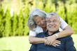Heiteres Seniorenpaar