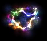 Abstract light illustration background