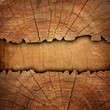 cracked wooden board