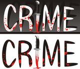 crime scene - murder weapon poster