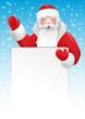 Santa Claus greeting. Vector illustration