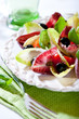 Chicory salad with olives and capers