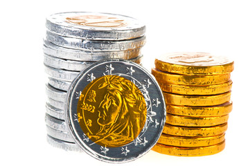 Chocolate Euro coins