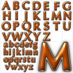 abc alphabet background oregon font design
