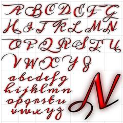 abc alphabet background meddon font design