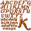abc alphabet background qumpel font design