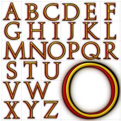 abc alphabet background stowe font design
