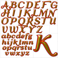 abc alphabet background qumpel font design