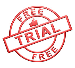 """Free Trial"" Icon (red)"
