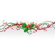 Vector abstract christmas background with holly