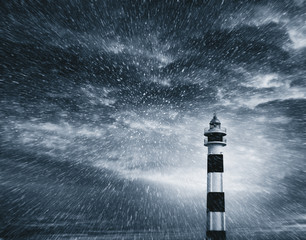 lighthouse blizzard