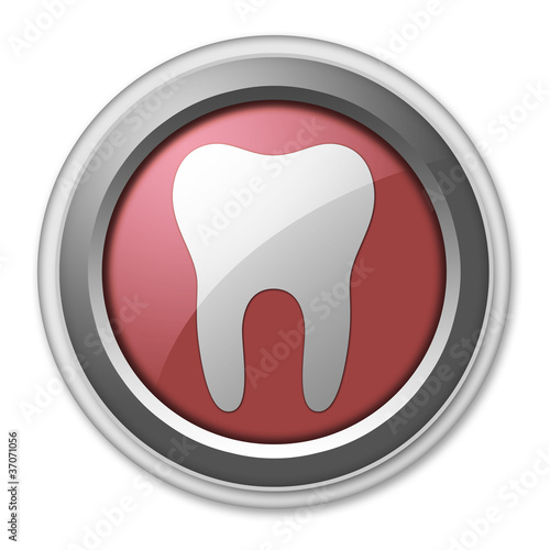 "Red 3D Style Button ""Dental Medicine / Dentistry"""