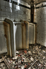 Abandoned male urinals