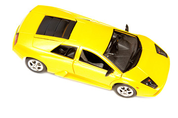 yellow toy sport car