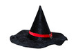 Black cone hat with red strip
