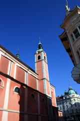 Ljubljana, Blick auf die Franziskanerkirche